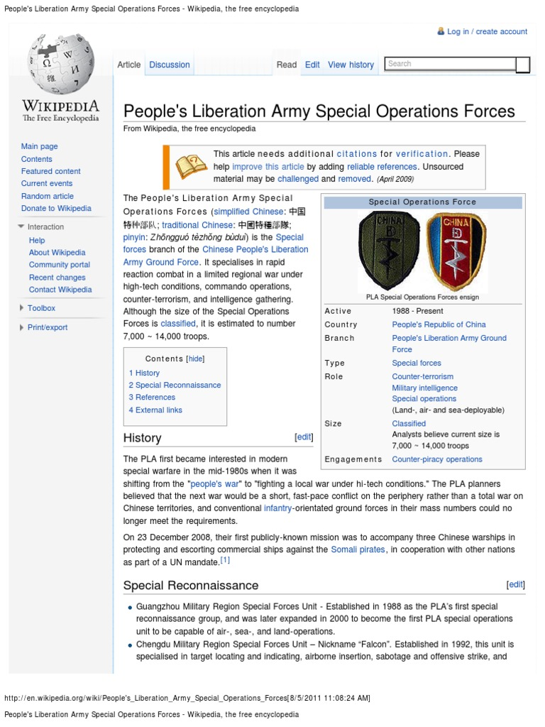 People's Liberation Army Special Operations Forces