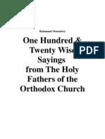4707802 Balamand Monastery 120 Wise Sayings of Holy Fathers