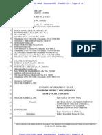 11-08-15 Oracle Norton Declaration Re. Lindholm Email