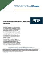 Diferencias entre los receptores GPS de grado recreativo y profesional