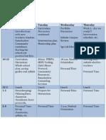 staff development agenda august 2011
