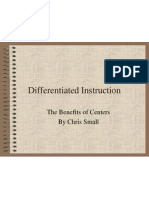 differentiated instruction and learning centers portfolio