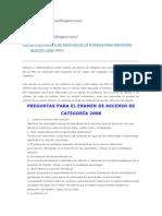 "PREGUNTAS EXAMEN DE ASCENSO DE CATEGORIA PARA MAESTROS GESTIÃ""N 2008"