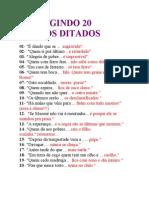 CORRIGINDO 20 VELHOS DITADOS