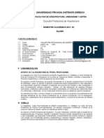 FAUA - UPAO  Silabo Taller Pre-profesional de Diseño Arquitectónico 9  2011-20