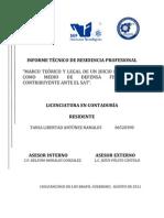 INFORME TÉCNICO DE RESIDENCIA PROFESIONAL