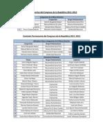Órganos del Congreso 2011-2012