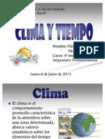Clima y tiempo
