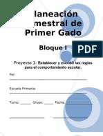 1er Grado - Bloque I - Proyecto 1