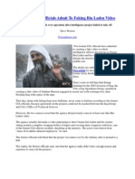 Former CIA Officials Admit to Faking Bin Laden Videos