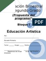 2do Grado - Bloque I - Educación Artística