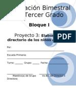 3er Grado - Bloque I - Proyecto 3