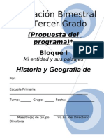 3er Grado - Bloque I - Historia y Geografía de