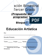 3er Grado - Bloque I - Educación Artística