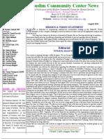 Newsletter Aug 11