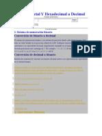 Binario Octal Y Hexadecimal a Decimal