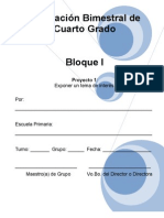 4to Grado - Bloque I - Proyecto 1
