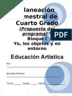 4to Grado - Bloque I- eduación artística