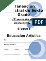 6to Grado - Bloque I - Educacion Artistica