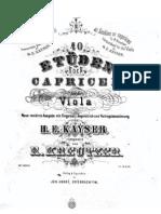 Kreutzer 40 Studies for Viola