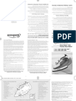 Sunbeam Iron Instruction Manual