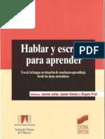 Jorba 2000 - Hablar y Escribir Para Aprender - (Copia con fines académicos)