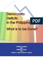 Democratic Deficits in the Phils- What is to Be Done