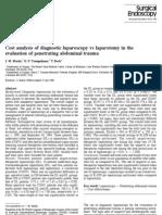 Cost Analysis of Diagnostic Laparoscopy