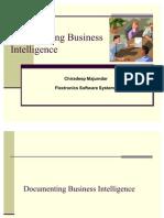 Documenting Business Intelligence Chiradeep 101221051011 Phpapp02