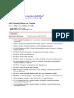 ACI 2009 Manual of Concrete Practice
