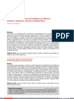 La Educacion Superior Tecnologica en Mexico, Historia, Situacion Actual y Perspectivas