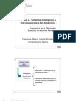 Modelo Ecologico y Transaccional