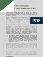 La Educacion Artistica Documento Para Docentes de Arte