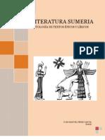 PÉREZ GARCÍA, Juan Manuel - Literatura sumeria. Antología de textos épicos y líricos