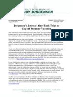 Rep. Andy Jorgensen One Tank Trip