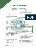 Solucionario Matemática - Admision UNI 2011-2 - Pamer