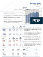Derivatives Report 18th August 2011