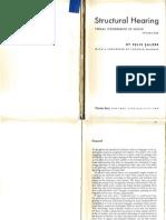 Structural Hearing Tonal Coherence in Music Vol. I (Salzer) Charles Boni 1952