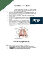 Circulation & Respiration Lab - Basic
