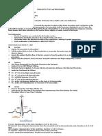 Diagnostic Test and Procedures