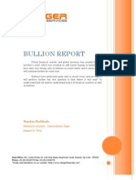 Bullion Research Report by Kundan Narkhede - Integer Research & Services Pvt. Ltd.