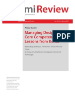 Managing Design as a Core Competency Lessons From Korea