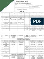 Academic Calendar 2009