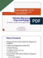 Securities Market Development in Cambodia_HUOT Pum_07 April 2011
