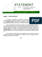 DND-OPA - Press Release - Mayuga Report Review - 18 August 2011