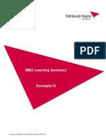 Learning Summary Exemplar D0