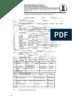 Format Biodata Mahasiswa Baru