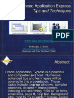 Advanced Application Express