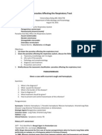 HANDOUT Parasites Affecting the Respiratory Tract 2011