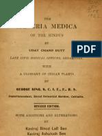 Materia Medica of Hindus